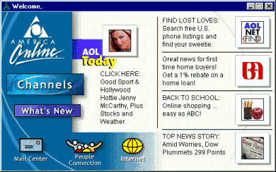 Too Difficult AOL Home Screen
