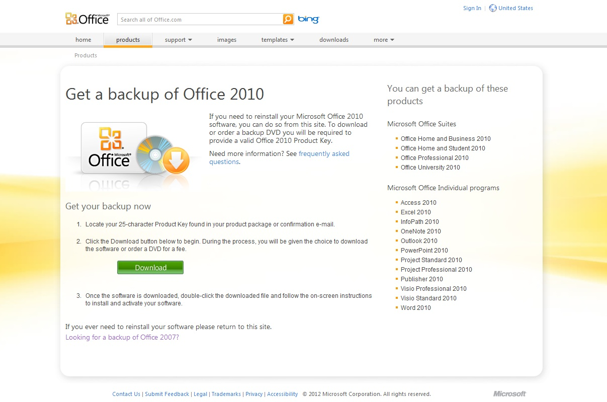 Microsoft Office Redownload