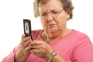 old people using iphone