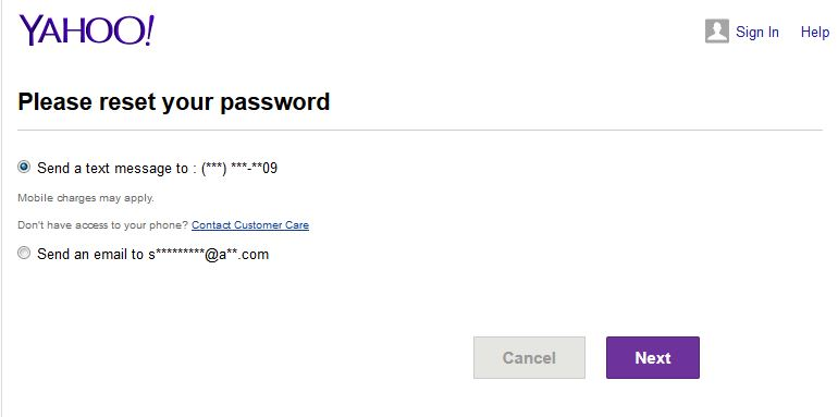 Yahoo Mail No Security Questions